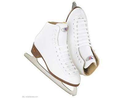 Figure Skates  Riedell Ice Skates 110 Womens White  Ladies size 9
