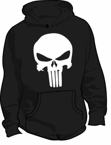 PUNISHER LOGO DC COMICS SUPERHERO HOODIE ALL SIZES & COLOURS