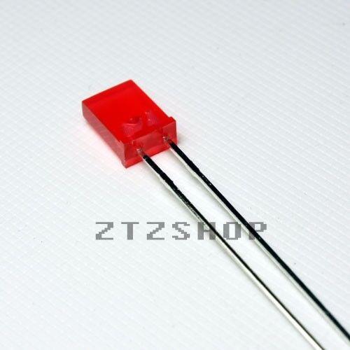 10 x LED Red Diffused Rectangular 2x5 mm - ZTZSHOP-  Free Shipping