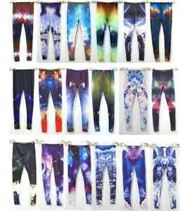 NEW-Galaxy-Leggings-Space-Planets-Print-Pattern-Stretch-Tights-Christopher-Kane