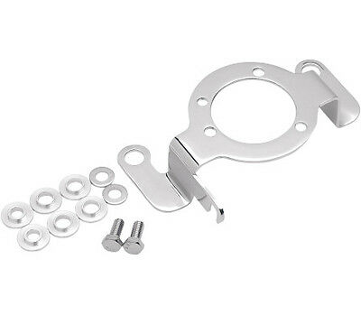 Chrome Carb Support Bracket with Choke Cable Mount for Harley w/ Mikuni Carb