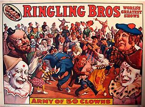 1960-Ringling-Bros-Circus-World-Museum-Old-Clown-Poster