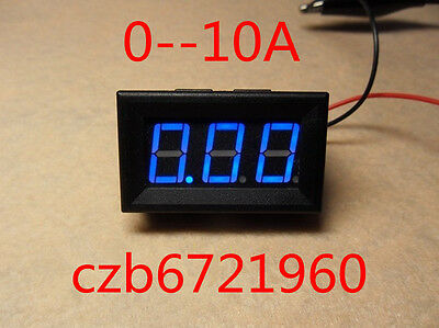 NEW Blue LED Panel Meter Mini Digital Ammeter DC 0 To 10A