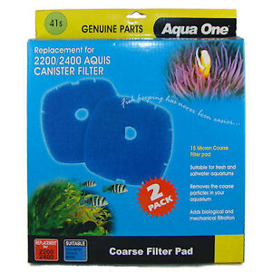 Replacement Sponge 41s Supply Aqua One 2200/2400 Canister Filter 2pk