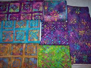 GEOMETRIC-FLORALS-batik-fabric-100-cotton-from-India-Tribal-Gypsi-Dreamcatcher