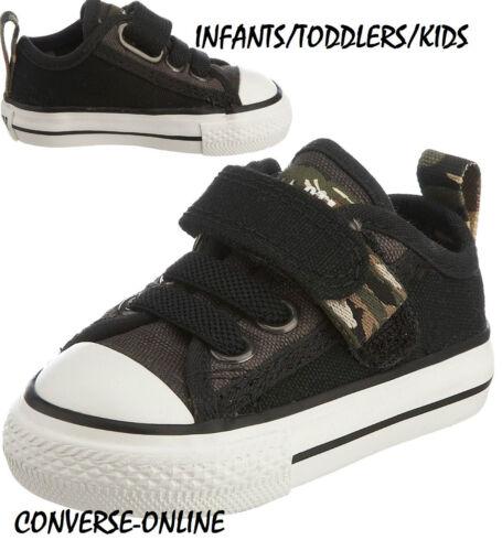 Reino Unido Velcro Zapatillas Tamaño Zapatos All On Camo Star Baby Girl's Slip 2 Converse 7IqBxSBawP