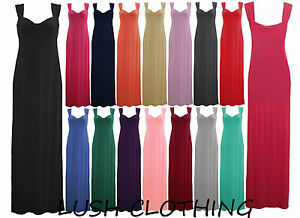 WOMENS-JERSEY-KNOT-KNOTTED-FRONT-STRAPPY-LONG-MAXI-LADIES-DRESS-SIZE-8-14-BNWT