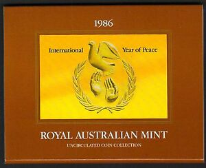1986-Royal-Australian-Mint-Uncirculated-Coin-Set-minor-spots-of-1-and-2-cent