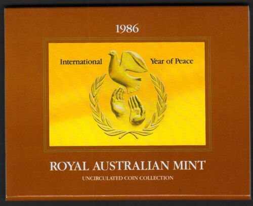 1986 Royal Australian Mint Uncirculated Coin Sets listing for 3 sets