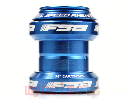 "FSA Orbit MX Threadless 1 1/8"" MTB Headset Blue"