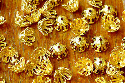 12mm Solid Brass Stamping Filigree Bead Cap Finding bc20(8pcs)