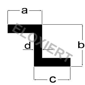alu z profil eloxiert 1 meter e6 ev1 aluprofil aluminium. Black Bedroom Furniture Sets. Home Design Ideas