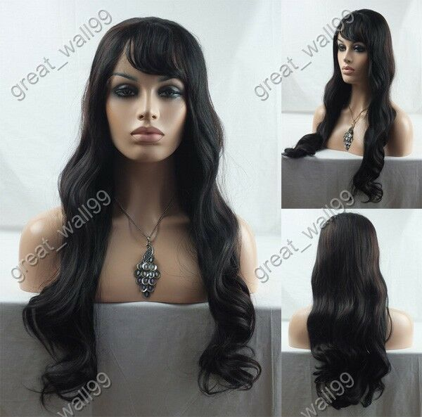 """16""""-28"""" New ! high quality  HAND TIED Synthetic Hair lace front  full wig #2/33"""