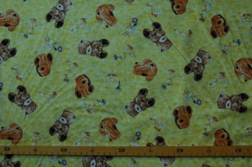 Patchwork tissu canard € 20//m² 0,3 m Enfants Tissu Teddy Nounours avec chien