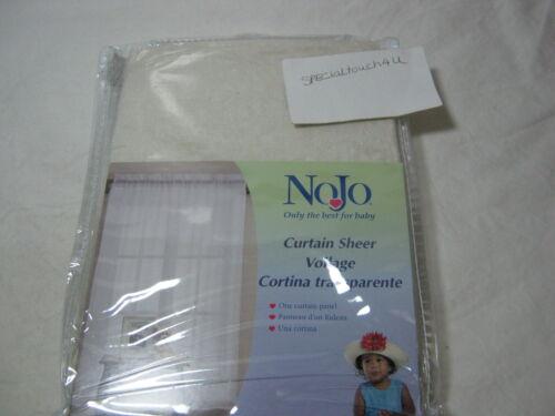 NEW NoJo Shimmer Curtain Panel Sheer Ecru Ivory 46x63 NIP