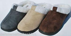 Damen-Pantoffel-Hausschuhe-mit-Fellrand-feste-Sohle-Gr-36-37-38-39-40-41-NEU