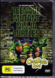 TEENAGE-MUTANT-NINJA-TURTLES-DVD-1990-New-Sealed-Original-Movie-All-Region-TMNT