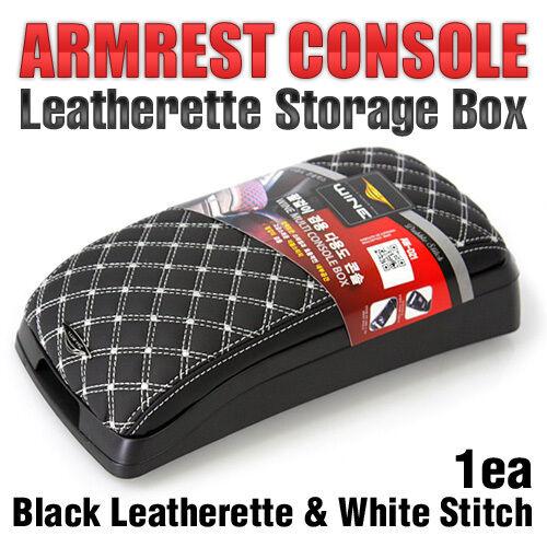 Arm Rest Console Storage Box Leatherette (White) For HONDA 2012 - 2016 CR-V