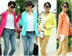 SR-Hot-Elegant-OL-FOLDABLE-SLEEVE-Women-SUIT-Outwear-Blazer-Jacket-Coat