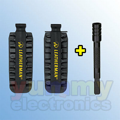 LEATHERMAN BIT KIT & BIT DRIVER EXTENDER BLACK for CHARGE AL ALX TTi Ti XTi WAVE