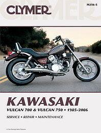 CLYMER WORKSHOP SERVICE REPAIR MANUAL BOOK KAWASAKI VULCAN VN 700 VN 750 85-06