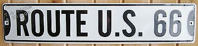 Route 66 STREET SIGN aluminum road vtg style metal garage wall home decor 5x24