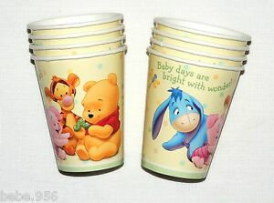 winnie the pooh baby day 039 s 8 paper cups baby shower party supplies