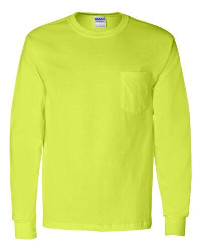 Peaches Pick Mens Size S-3XL 4XL 5XL Ultra Cotton Long Sleeve Pocket T-shirt Tee