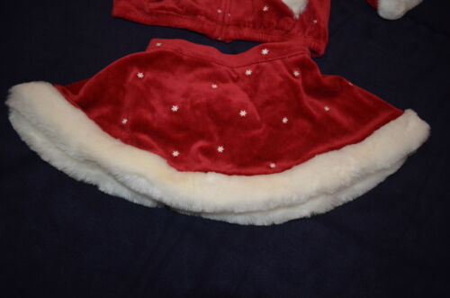Gymboree MOUNTAIN CABIN Red Velour Faux Fur Hoodie Top or Skirt NWT 6-12 mo 3T