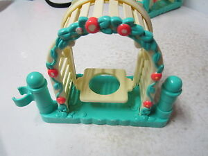 Fisher Price Little People house farm fence garden swing bench