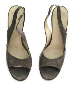 MARC-JACOBS-SHOES-SLINGBACK-BROWN-LIZARD-MADE-ITALY-SIZE-38-1-2-US-8-1990s