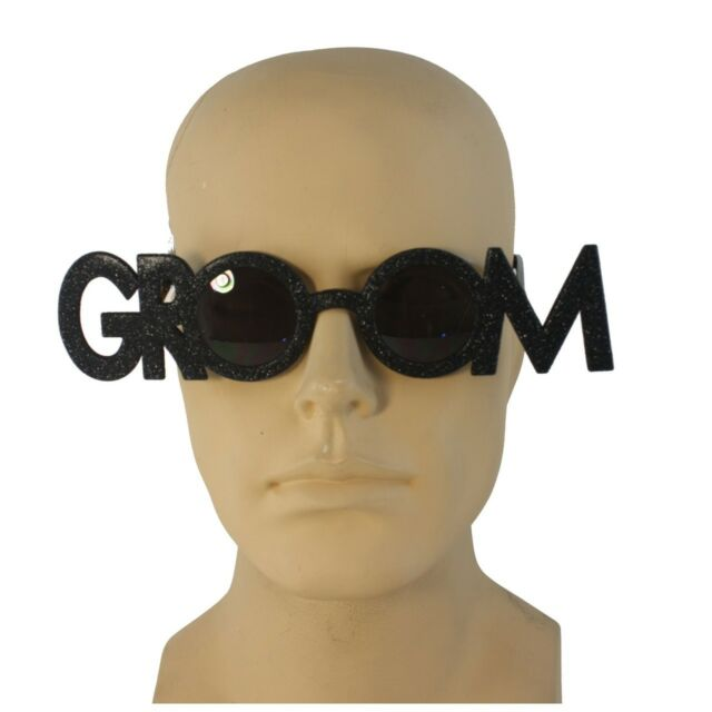 Groom Novelty Glasses Bachelor Party Glasses CLOSEOUT Rehearsal Dinner CLOSEOUT