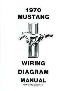 1970 mustang  mach 1  shelby diagram manual