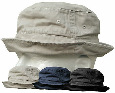 Shapeable Cotton Bucket Hat Mens Cap Fishing Sailor Navy Newsboy Boonie Summer