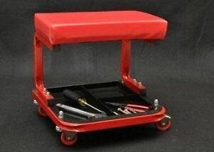 Mechanics Roller Shop Stool W Tool Tray Shop Seat Auto