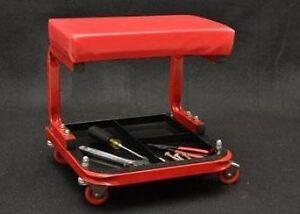 Mechanics Roller Shop Stool W Tool Tray Shop Seat Auto