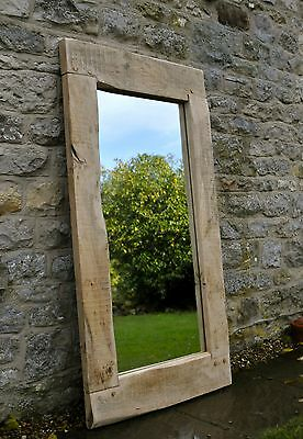 LARGE MIRROR HANDMADE OAK FRAME - 80x55