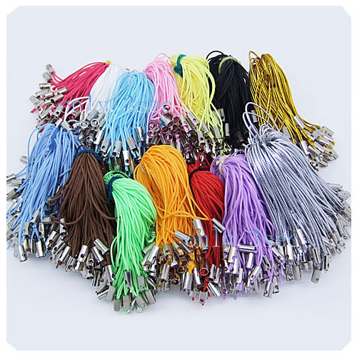 30 / 100 Pcs Mobile Phone Dangle String Strap Thread Cord 15Color-1 Or Mixed L01
