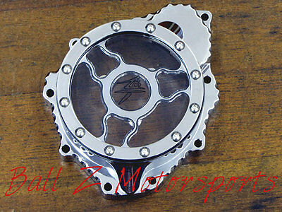 Hayabusa B-King Chrome Wicked Ball Cut See Through Clear Stator Cover!! 99-13-14