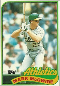 1989 Topps Mark Mcgwire Oakland Athletics 70 Baseball Card