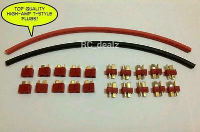 (10) PAIRS DEANS ULTRA T-STYLE CONNECTORS PLUGS W/ HEAT SHRINK WRAP *NY SELLER!!