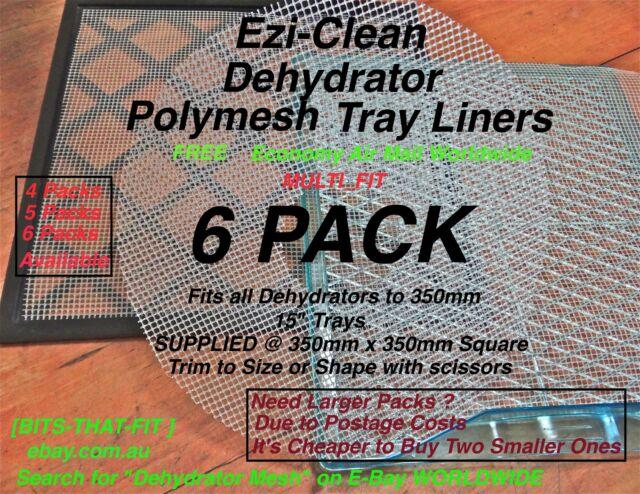 Food Dehydrator Dryer Tray Liner Mesh Sheet 6 Jerky Mango Fruit  Excalibur