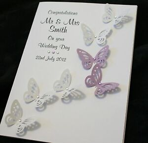 Personalised Wedding Greeting Cards