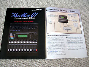 yamaha promix 01 digital mixer brochure ebay. Black Bedroom Furniture Sets. Home Design Ideas