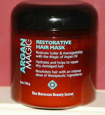 Argan Magic Restorative Hair Mask 8 Oz. Jar BRAND NEW! AUTHENTIC! WORKS MAGIC!