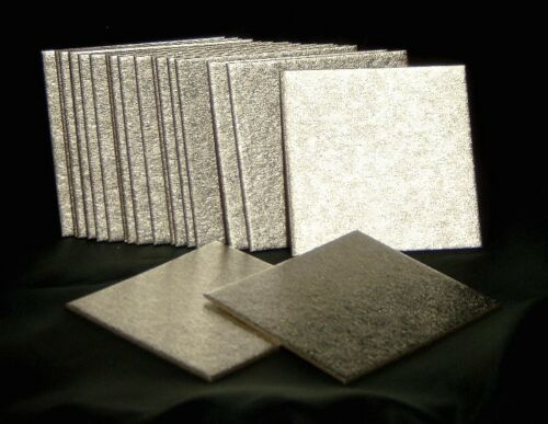 3inch SQUARE CAKE BOARDS / CARDS (Pk of 20) IDEAL FOR MINIATURE CAKES