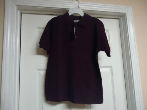 Boys Genuine School Uniform Short Sleeve Polo Pique Shirts Green Maroon New