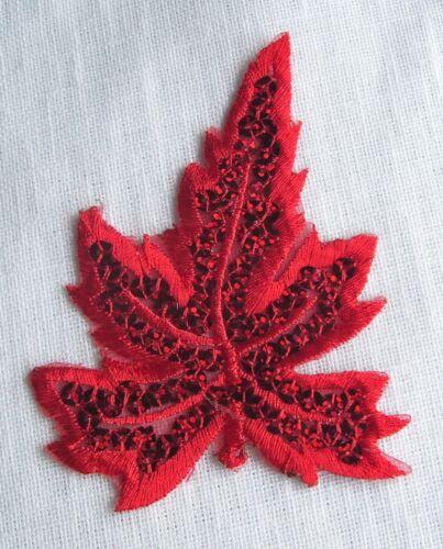 ECUSSON PATCH thermocollant FEUILLE NATURE SEQUIN 8 x 9 cm au choix