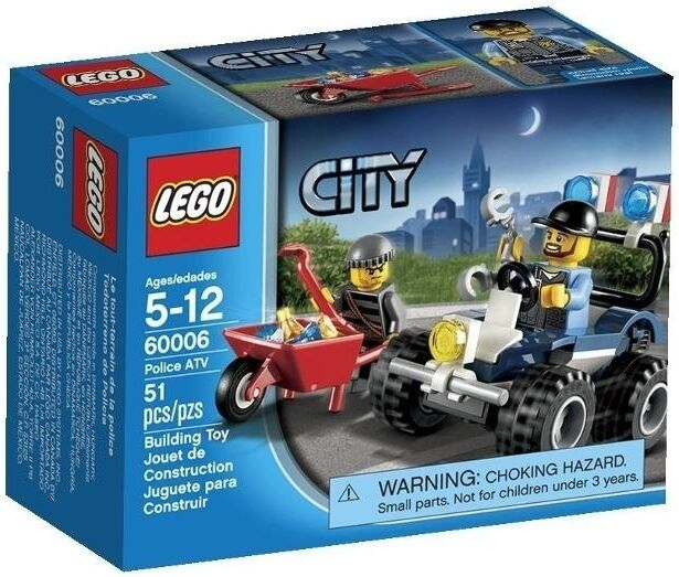 Lego City 60006 Police ATV Brand NEW in Factory Sealed Box with Free Postage!