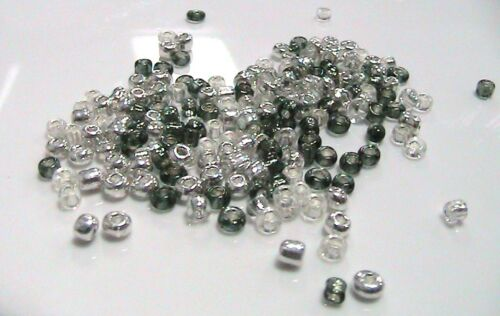 30g x 11/0 Chrome Mix Glass Seed Beads Approx 2mm D141